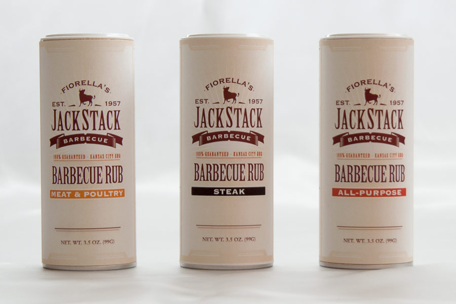 Jackstack BBQ label design